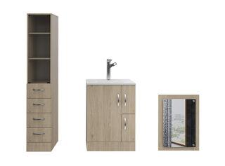 Muebles de Baño: Lavamanos + Torre + Espejo TuHome,Crema,hi-res