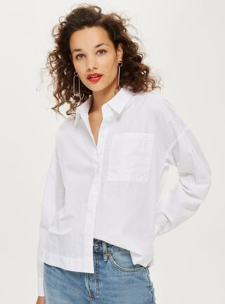 Blusa Long Sleeve Poplin Shirt Topshop,Único Color,hi-res