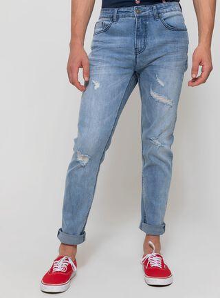 Jeans Claro Rasgado Foster,Celeste,hi-res