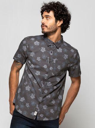 Camisa Slim Print Foster,Gris Perla,hi-res