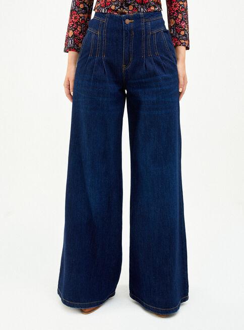 Jeans Pliegues Bota Ancha Tiro Alto Umbrale Jeans Y Pantalones Paris Cl