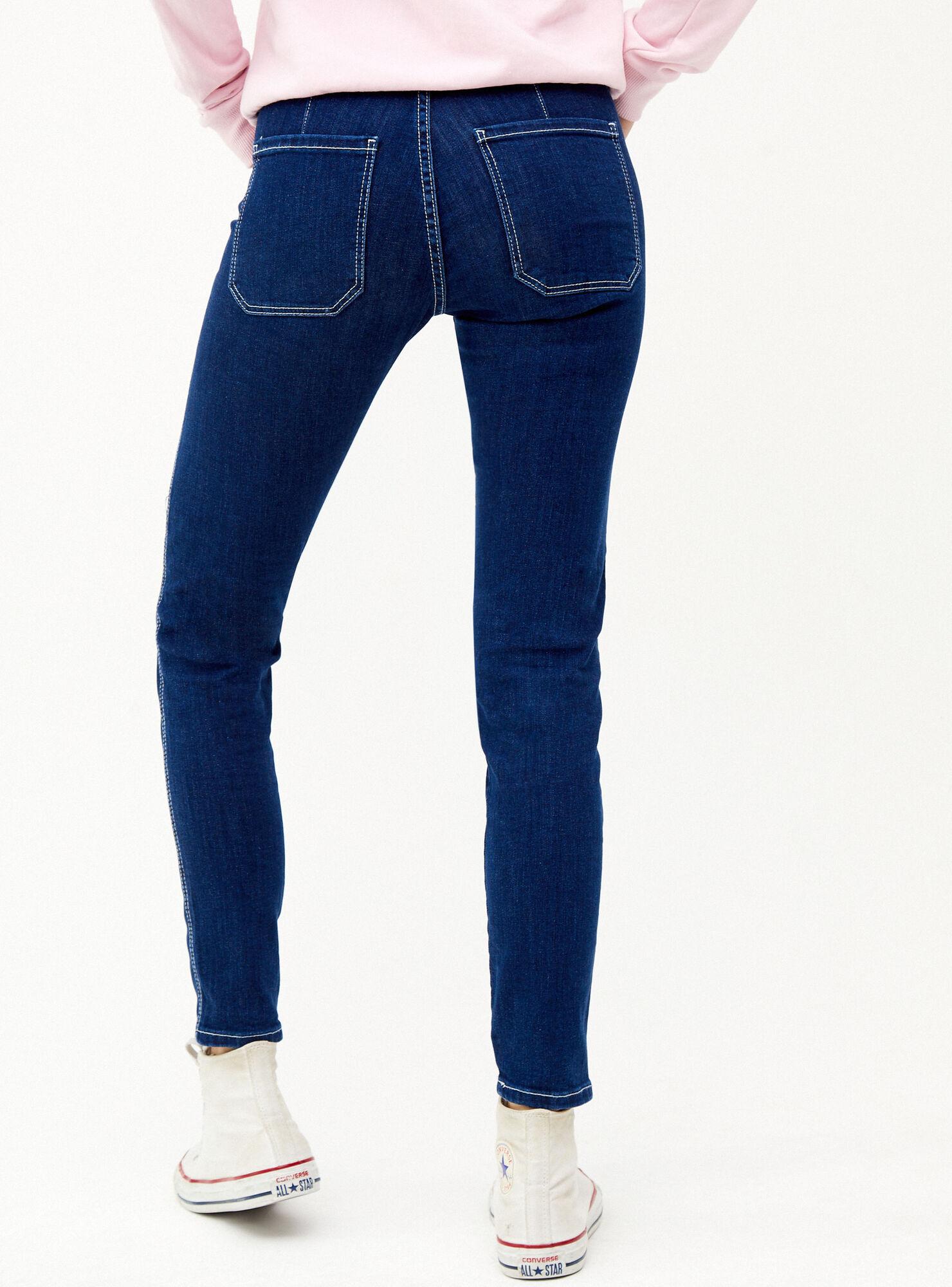 Jeans Skinny Botones Bershka Vestuario Mujer Paris Cl