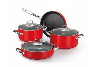 Batería de Cocina Zeta Red 7 piezas Korkmaz,,hi-res