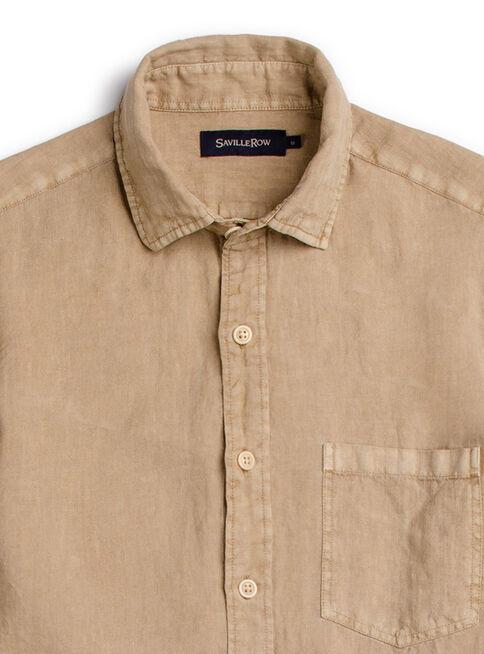 Camisa%20Houston%20Lino%20Manga%20Larga%20Saville%20Row%2CCaf%C3%A9%20Claro%2Chi-res