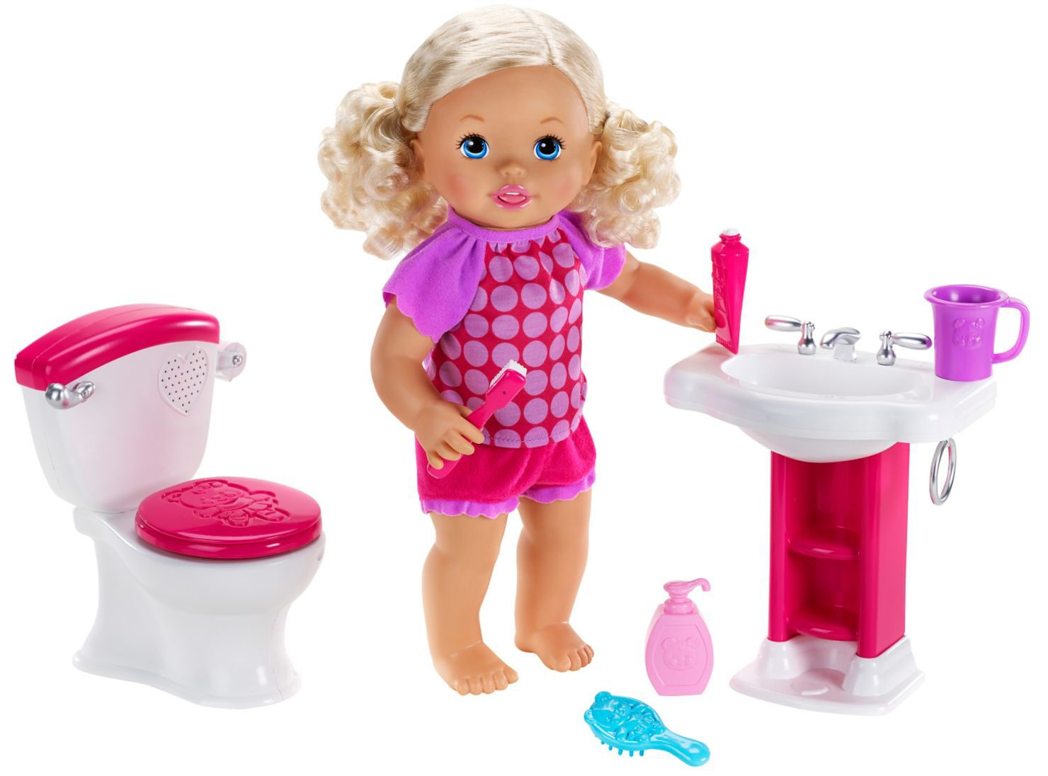 Mattel Bebita De Interactiva Little Ir Hora Baño Al Mommy roEQdxBWCe