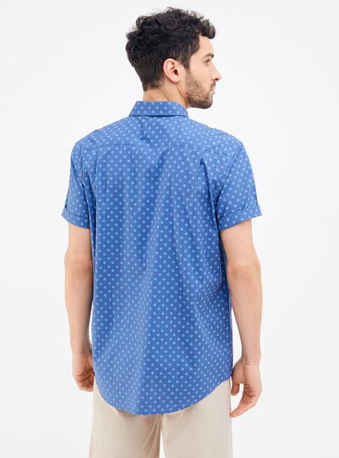 Camisa%20Manga%20Corta%20Mini%20Print%20Greenfield%2CAzul%2Chi-res