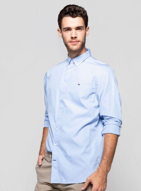 Camisa%20Poplin%20B%C3%A1sico%20Regular%20Fit%20Tommy%20Hilfiger%2CCeleste%2Chi-res
