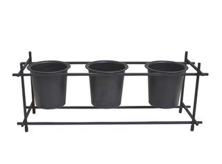 Pack 3 Porta Plantas Negro 42.8 x 14.2 x 16.6 cm Alaniz Home,,hi-res