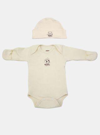 Set Body+ Gorrito Baby Mink Osito Bordado,,hi-res