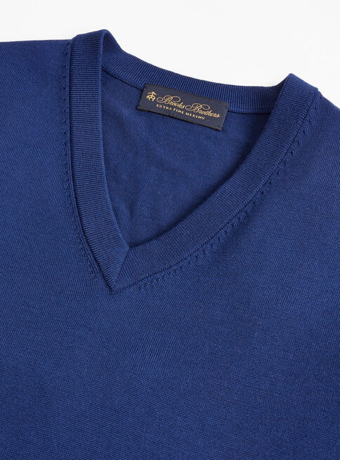 Sweater%20Liso%20Azul%20Cuello%20V%20Brooks%20Brothers%2CAzul%2Chi-res