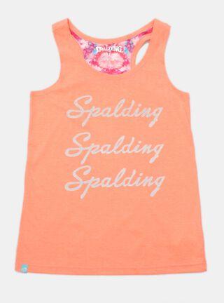 Polera Spalding Estampado Básico Niña,Salmón,hi-res