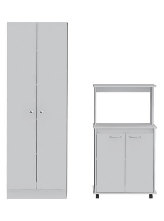 Muebles de Cocina: Microondas + Optimizador Diseño 2 TuHome,Blanco,hi-res