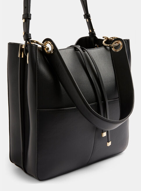 Cartera%20Double%20Pocket%20Faux%20Leather%20Hobo%20In%20Black%20Topshop%2C%C3%9Anico%20Color%2Chi-res