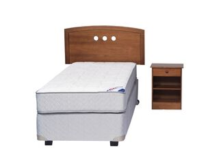 Box Spring Therapedic 1.5 Plaza + Maderas Juvenil Flex,,hi-res