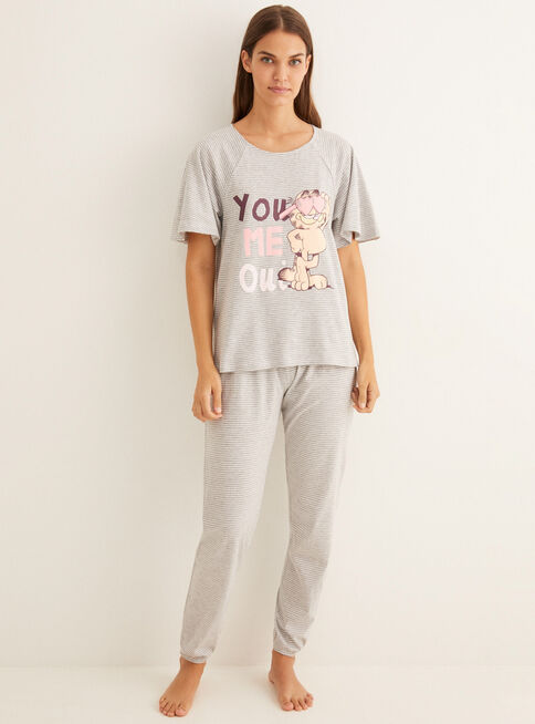 Pijama%20Garfield%20Love%20Stripes%20100%25%20Algod%C3%B3n%20Women'Secret%2CGris%20Perla%2Chi-res