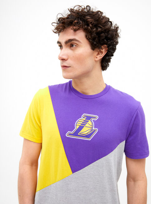 Polera%20Manga%20Corta%20Tricolor%20Lakers%20NBA%2CLila%2Chi-res