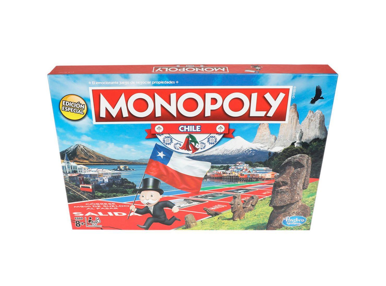 Juego Tablero Nacional Chile Monopoly Juegos De Salon Paris