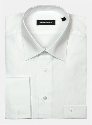 Camisa Regular Slim LM 34-35 Puño para collera Cuello Romo Vandine,Blanco,hi-res