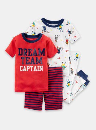 Pijama 4 Piezas Niño 2 A 4 Años Carter's,Diseño 1,hi-res