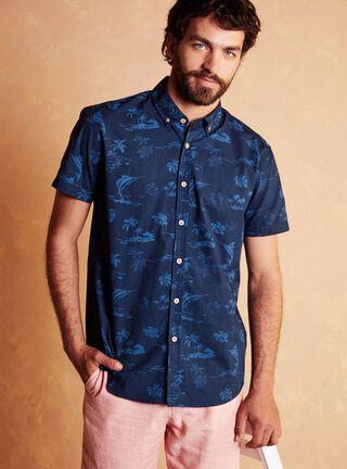 Camisa Manga Corta Sport Alaniz,Azul Oscuro,hi-res