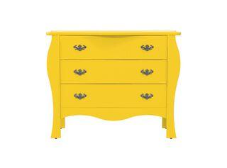 Cómoda Liz 3 Cajones Amarilla Attimo,,hi-res