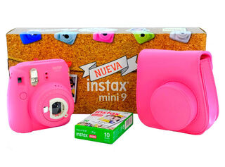 Pack Camara Instantanea Fuji + Film + Bolso Rosado,,hi-res