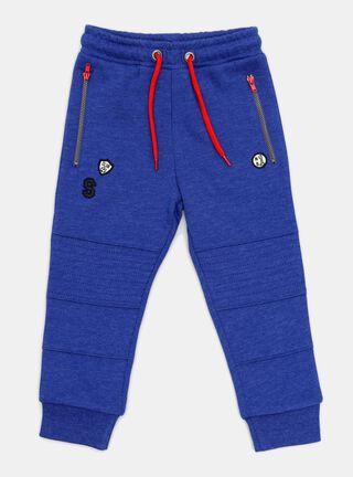 Pantalon Buzo Tribu Bolsillos Niño,Azul Petróleo,hi-res