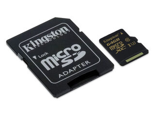Tarjeta MicroSD 64GB + adaptador Kingston,,hi-res