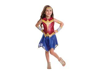 Disfraz Mujer Maravilla Niña Carnaval,Único Color,hi-res