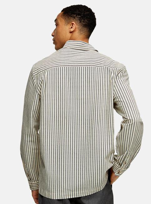 Camisa%20Considered%20Ecru%20Stripe%20Overshirt%20Topman%2C%C3%9Anico%20Color%2Chi-res