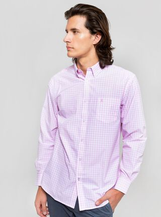 Camisa Casual Cuadros Rainforest,Rosado Pastel,hi-res