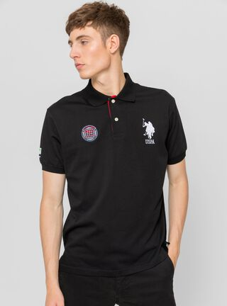 Polera Button US Polo,Carbón,hi-res