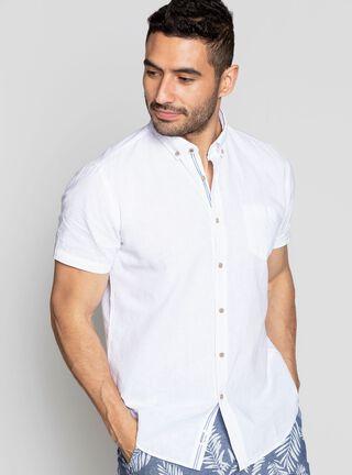Camisa Cuello Americano Greenfield,Blanco,hi-res
