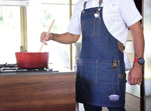 Pechera Mezclilla Porta Cuchillos Brann Textil Cocina Paris Cl