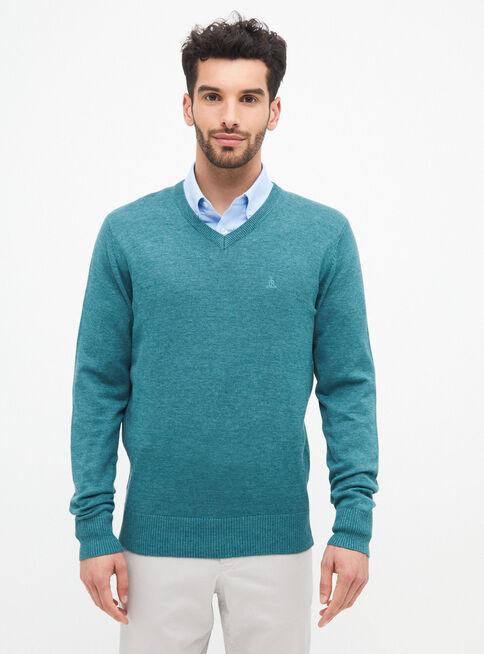 Sweater%20B%C3%A1sico%20Cuello%20V%20%2CVerde%20Militar%2Chi-res
