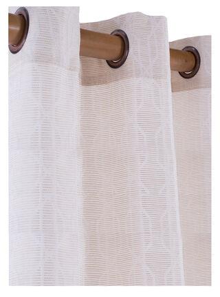 Cortina Tela Jaquard Crema 140 x 230 cm Dib,,hi-res