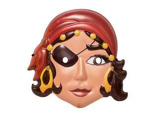 Máscara R.A. Pirata Mujer Adulto Carnaval,,hi-res