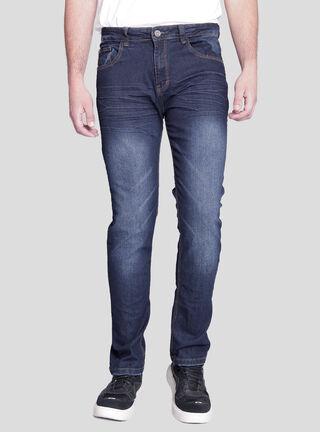 Jeans Slim Fit Focalizado Ellus,Azul Petróleo,hi-res