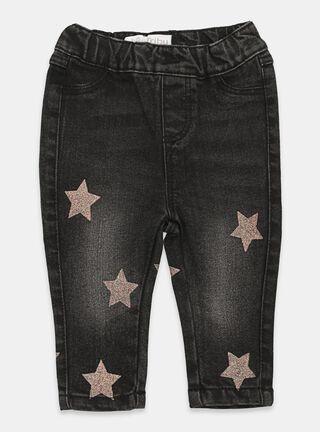 Jeans Tribu Aplicación Niña,Negro,hi-res