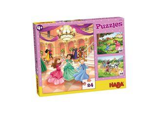 Puzzle Princesa 3 Motivos De 24 Piezas c/u Haba,,hi-res