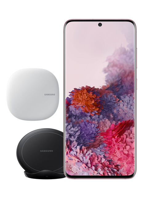 Smartphone%20Samsung%20Galaxy%20S20%20128GB%20Rosado%20%2B%20Wireless%20Charger%20Stand%20%2B%20Kit%20Connect%20Home%2C%2Chi-res