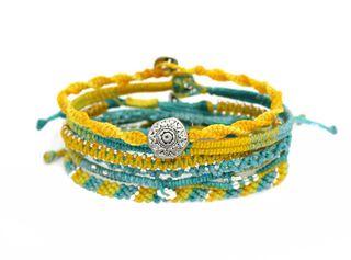 Pulsera Kiutwoman Earth Bracelet 7 Strands Yellow,,hi-res