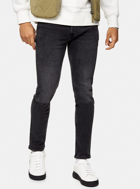 Jeans%20Washed%20Negro%20Stretch%20Skinny%20Topman%2C%C3%9Anico%20Color%2Chi-res