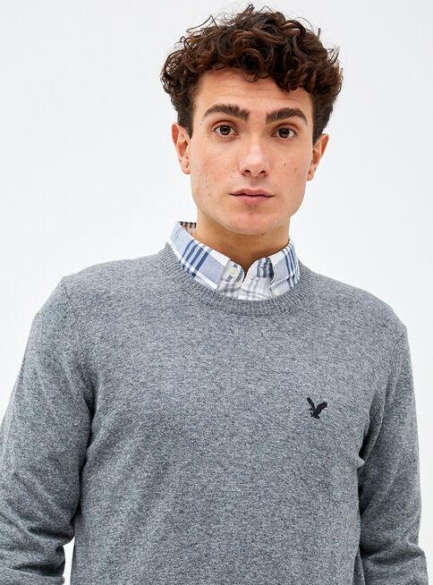 Sweater%20Liso%20Redondo%20American%20Eagle%2CGris%20Perla%2Chi-res