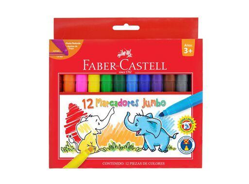 Marcadores Escolares Jumbo 12 Colores Faber Castell
