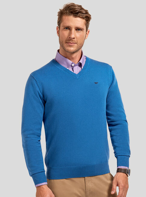 Sweater%20B%C3%A1sico%20Cuello%20V%20Ferouch%2CAzul%20Petr%C3%B3leo%2Chi-res