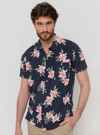 Camisa Print Flores Ferouch,Marengo,hi-res