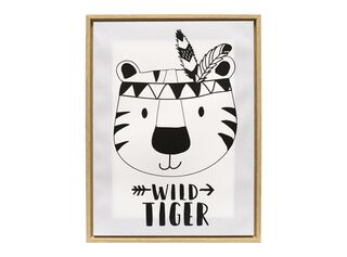 Canvas Wild Tiger 30 x 40 x 2,5 cm Attimo Kids,,hi-res