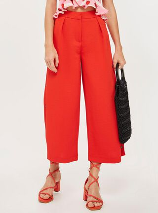 Pantalón Horn Button Red Topshop,Único Color,hi-res