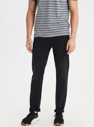 Jeans Original Straight American Eagle,Negro Mate,hi-res